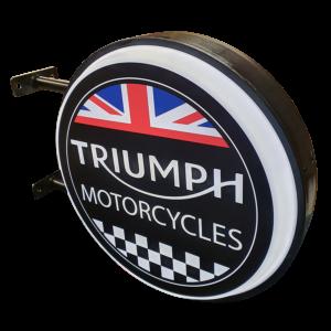Triumph Motorcycles 12v LED Retro Bar Mancave Light Sign