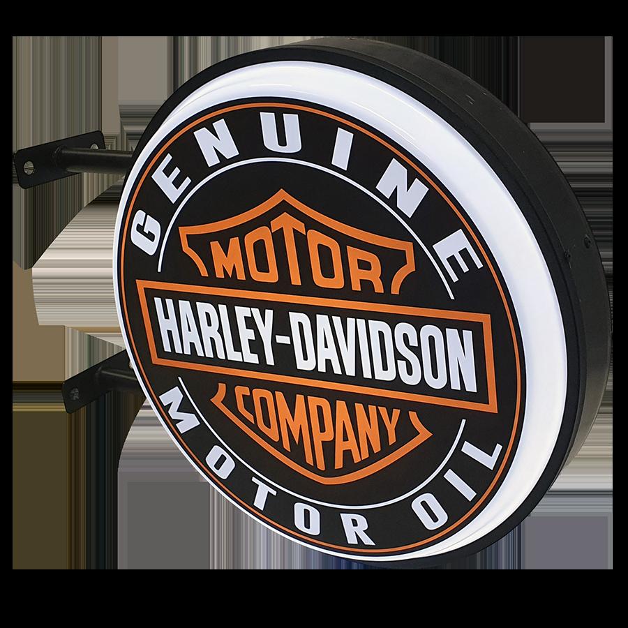 Harley Davidson Oil 12v LED Bar Mancave Light Sign