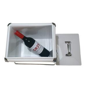 13lt Retro Esky Retro Cooler with bottle of wine inside