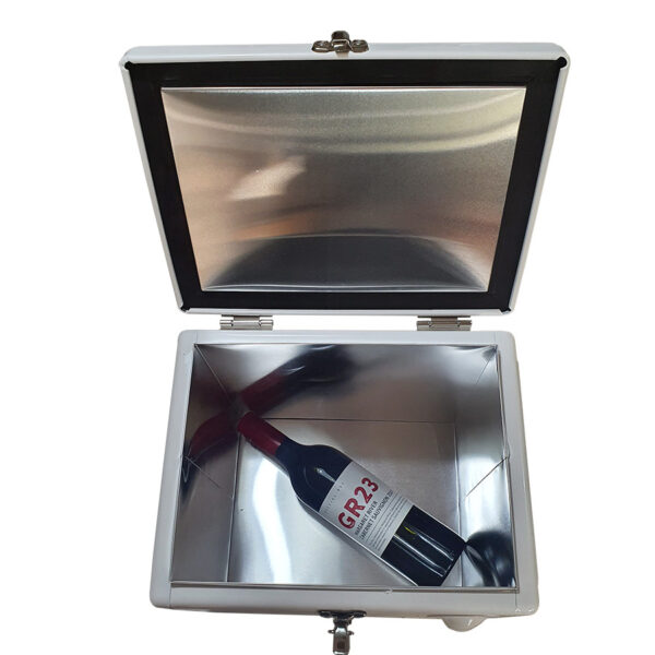 15lt Retro Esky Retro Cooler Chest showing a bottle of wine will fit
