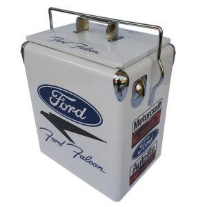 Ford Falcon White Retro Esky 17lt Retro Cooler