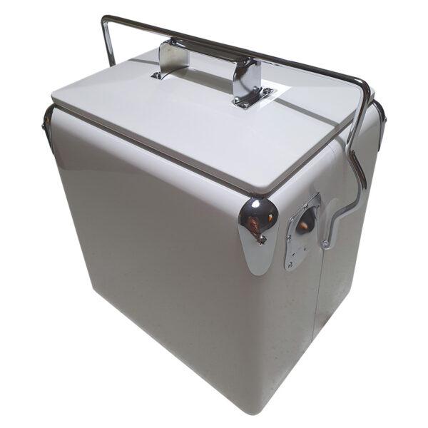Retro Esky 13lt Retro Cooler - White - Corner 1