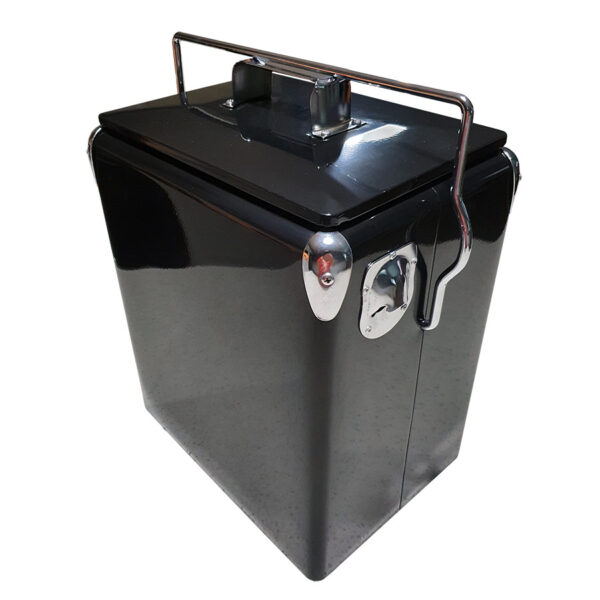 Retro Esky 17lt Retro Cooler - Black - Corner 1