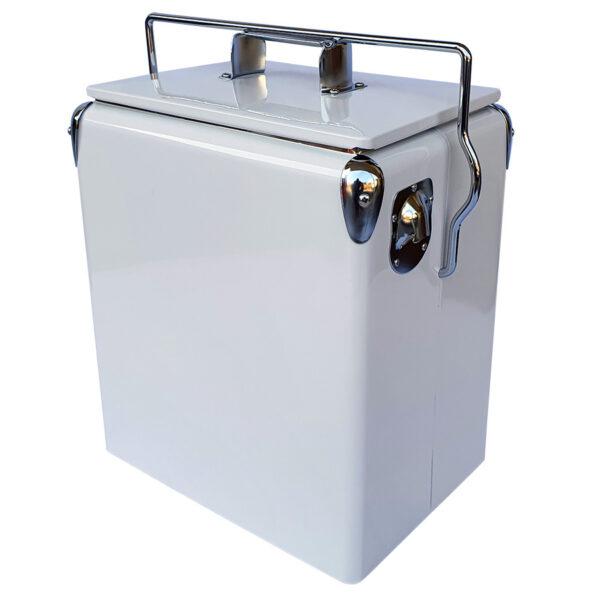 Retro Esky 17lt Retro Cooler - White - Corner 1