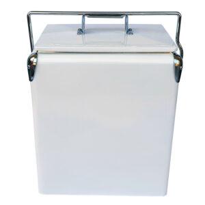 17lt Retro Esky Cooler – Retro Cooler Style – Plain White