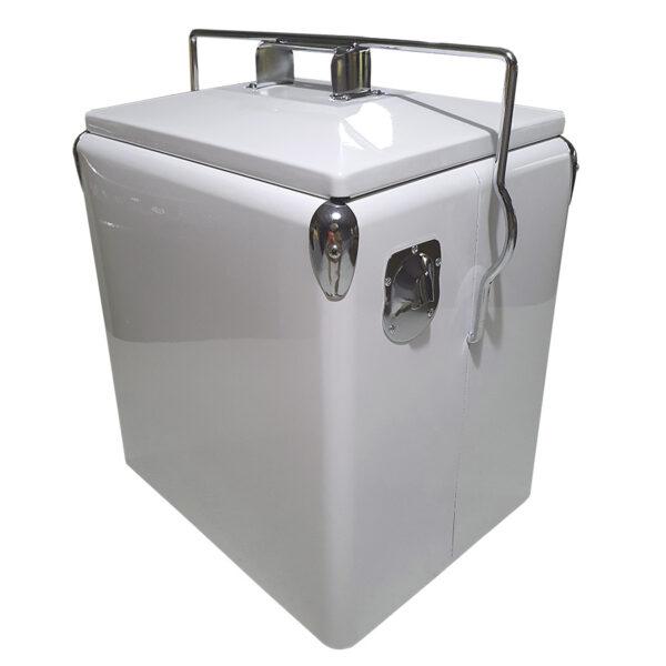 Retro Esky 28lt Retro Cooler - White - Corner 1